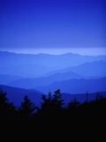 Les Great Smoky Mountains au crépuscule Photographie par Cody Wood