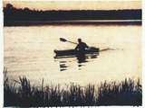 Great Pond Kayak Photographic Print by Jennifer Kennard