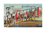 Greeting Card from Bakersfield, California Giclee Print