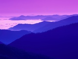 Great Smoky Mountains Under a Purple Sky Photographic Print by Cody Wood