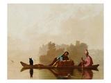 Comerciantes de pieles bajando el Missouri Lámina giclée por George Caleb Bingham