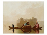 Fur Traders Descending the Missouri Premium Giclee Print by George Caleb Bingham