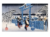 Gion Shimu In Snow Giclee Print by Ando Hiroshige
