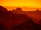 Grand Canyon and Orange Sky Photographic Print by David Frazier