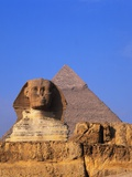 Great Sphinx and the Pyramid of Khafre Photographic Print by Leslie Richard Jacobs