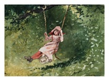 Girl on a Swing Giclee Print by Winslow Homer
