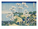 Fuji from Goten-yama, at Shinagawa on the Tokaido, from the Series Thirty-Six Views of Mt. Fuji Reproduction procédé giclée par Katsushika Hokusai