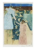 Gathering Fruit Giclee Print by Mary Cassatt