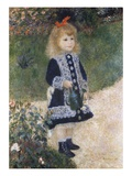 Girl with a Watering Can Giclee Print by Pierre-Auguste Renoir