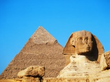 Great Sphinx and the Pyramid of Khafre Photographic Print by Mark Karrass