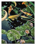 Goldfish Pond Giclee Print by Robert McIntosh