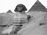 Grand sphinx et pyramides de Gizeh Photographie par Bettmann 