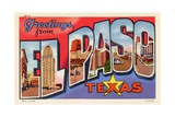 Greeting Card from El Paso, Texas Giclee Print