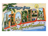 Greetings from Florida, &quot;The Land of Sunshine&quot; Giclee Print by Lake County Museum 