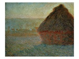 Haystack at Sunset Giclee Print by Claude Monet