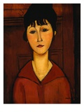 Head of a Young Girl Stampa giclée di Amedeo Modigliani