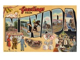 Greetings from Nevada Giclee Print by  Lake County Museum