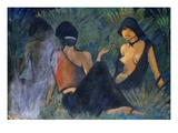 Gypsies at a Campfire Giclee Print by Otto Mueller