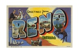 Greeting Card from Reno Giclee Print