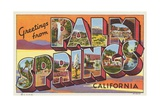 Greetings from Palm Springs Postcard Giclee Print