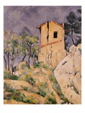 House with Cracked Wall Giclee Print by Paul Cézanne