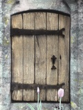 H.C. Cotswald Door and Tulips Photographic Print by Kim Koza