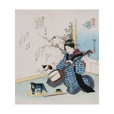 Hand-Picked Flower Giclee Print by  Shigenobu II