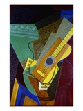 Guitar on a Table Impresso gicle por Juan Gris