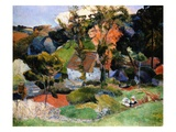 Landscape at Pont-Aven Gicledruk van Paul Gauguin