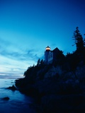 Lighthouse at Dusk Photographic Print by Craig Aurness
