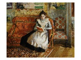 Jeanne Pissarro, Reading Giclee Print by Camille Pissarro
