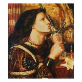 Joan of Arc Kissing the Sword of Deliverance Giclee Print by Dante Gabriel Rossetti