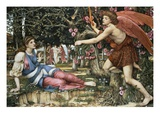Love and the Maiden Giclee Print by John Roddam Spencer Stanhope