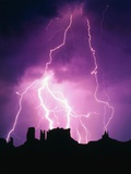 Lightning over Monument Valley Photographic Print by Craig Aurness