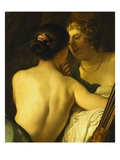Jupiter in the Guise of Diana Seducing Callisto Giclee Print by Gerrit van Honthorst