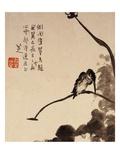 Lotus et oiseau Reproduction procédé giclée par Bada Shanren