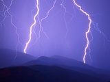 Lightning Bolts Photographic Print by Warren Faidley