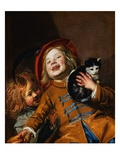 Laughing Children with a Cat Giclee Print by Judith Leyster