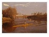 Max Schmitt dans un aviron simple Impression giclée par Thomas Cowperthwait Eakins