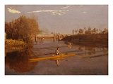 Max Schmitt in a Single Scull Giclee Print by Thomas Cowperthwait Eakins