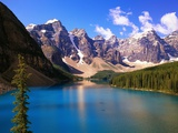 Mountains Looming over Blue Lake Photographic Print by Robert Glusic