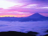 Mount Fuji and Fog in November Photographic Print