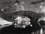Teich in New York im Winter Fotografie-Druck von Bettmann 