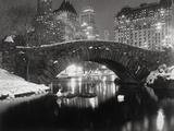 New York - Vijver in de winter Fotoprint van  Bettmann