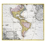 Map of the Americas by August Gottlieb Boehme Giclee Print by  Stapleton Collection