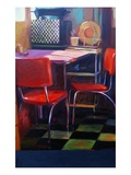 Natalie's Red Chairs III Giclee Print by Pam Ingalls