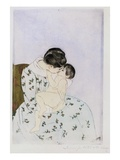 Mother's Kiss Giclee Print by Mary Cassatt