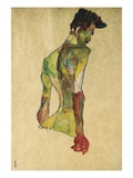 Male Nude in Profile Facing Right Giclee Print by Egon Schiele