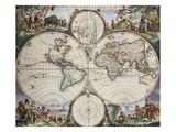 Carte du monde Impression giclée par Frederick de Wit