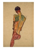 Male Nude, Back View Giclee Print by Egon Schiele